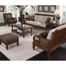 Traditional Living Room Furniture Furniture Interesting Rattan Sofa By Braxton Culler With Table