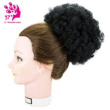 small afro puff buns hair pieces 8inch african american afro short kinky curly wrap drawstring puff