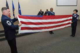 Flag Folding Ceremony Command Chief Retires After 29 Years U003e Keesler Air Force Base