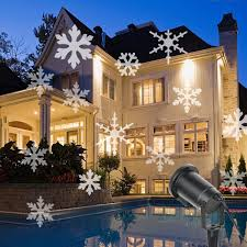 Christmas Laser Projector Lights by Amazon Com Christmas Projector Lamp Moving White Snowflake Led