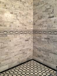 mirror bath niche with beveled mirror 3x6 subway tiles on the the tile shop design by kirsty