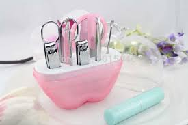 manicure set favors free shipping 10 x apple shape pedicure manicure set kit wedding