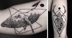 geometric tattoos by turkish artist okan uçkun bored panda