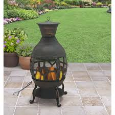 Cheap Firepits Mainstays Gas Pit Rubbed Bronze Walmart Lovely