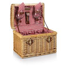 wine picnic baskets picnic time 215 32 300 chardonnay willow picnic basket for two