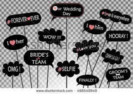 wedding photo props props photos on weddings featuring stock vector 498540949