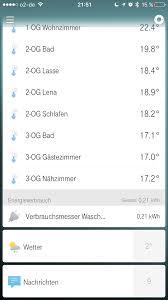 Wohnzimmer Temperatur Stromverbrauch Und Temperaturen Auswerten Trend Aufzeichnen Qivicon