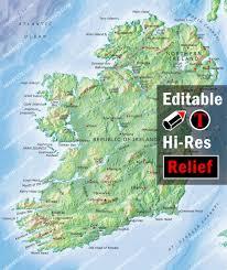 Map Ireland Ireland Map Illustrator Mountain High Maps Plus