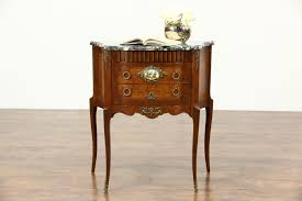 Antique Nightstands With Marble Top Sold French 1940 U0027s Vintage Small Chest End Table Or Nightstand