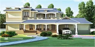 luxury sloping roof 5 bedroom villa exterior kerala home design