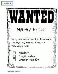 place value mystery number math mrs hill s all