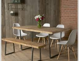 Dining Room Set With Bench Seat by Bench Rustic Table With Bench Fine Rustic Round Dining Table
