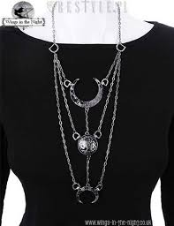 gothic moon necklace images Restyle gothic silver moon phases necklace jpg