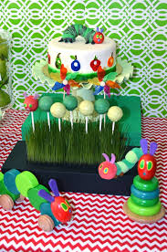 the very hungry caterpillar by eric carle baby shower party ideas