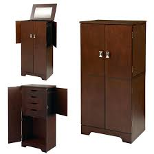 Girls Jewelry Armoire Armoire Vanity Jewelry Armoire Mirrored Box Stand Up Vintage