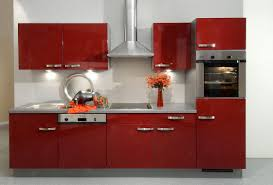 Bright Kitchen Cabinets Red Kitchen Cabinets On Modern Design Traba Homes