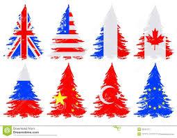 trees from flag stock vector illustration of banner 35261317