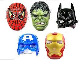 Captain America Halloween Costume Kids Spiderman Hulk Batman Captain America Ironman Avengers Face Mask