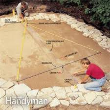 Laying Patio Slabs Build A Stone Patio Or Brick Patio Family Handyman