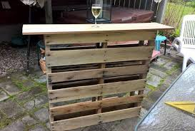 Palet Patio Custom Pallet Bar For Outdoor Patio Pallet Furniture
