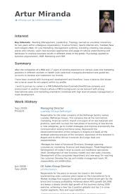 Profile Sample Resume by Managing Director Resume Samples Visualcv Resume Samples Database