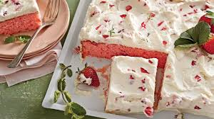 the best strawberries and cream sheet cake southern living