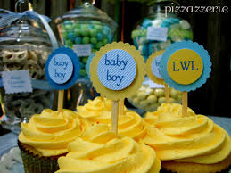 Halloween Baby Shower Cupcakes by Blue U0026 Yellow Baby Shower Pizzazzerie