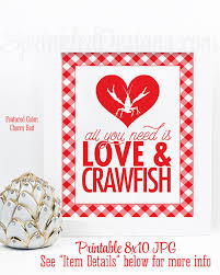 crawfish decorations crawfish boil decorations all you need is crawfish sign