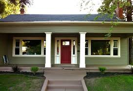 bungalow house designs with red door bungalow house designs