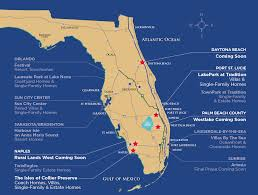 Clearwater Beach Florida Map by Minto Communities To Build Homes In Daytona Beach More Orlando