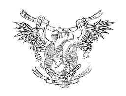 amazing gothic winged heart tattoo design jpg 900 693 tattooed