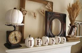 decoration fireplace thanksgiving focal point by decorating