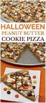 halloween peanut butter cookie pizza butter with a side of bread
