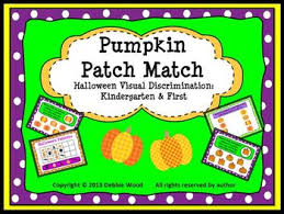 pattern games kindergarten smartboard smartboard halloween pumpkin patch match visual discrimination by