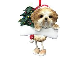 shih tzu ornament puppy cut with unique dangling legs
