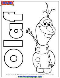 coloring pages frozen olaf the snowman from frozen coloring page h m coloring