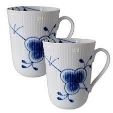 royal copenhagen blue fluted mega mug set of 2