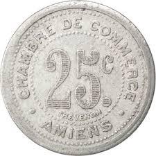 chambre de commerce amiens 25 centimes amiens 1920 1922 coinsbook