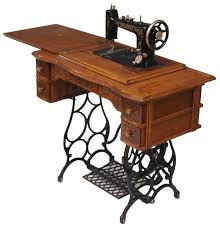 Model Home Furniture Auctions Austin Texas Antique Brunswick Oak Treadle Sewing Machine