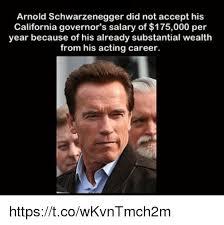 Schwarzenegger Meme - arnold schwarzenegger did not accept his california governor s