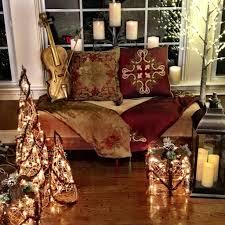 set of 3 berry indoor outdoor pre lit cone trees