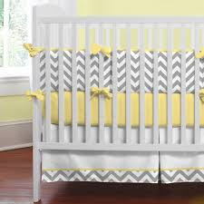 Crib Bed Combo Gray And Yellow Zig Zag Baby Crib Bedding Nursery Gray And