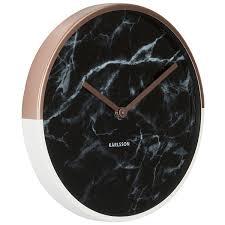 marble delight clock copper u0026 black karlsson black wall clock