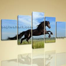 wall art hd print on canvas running horse picture contemporary