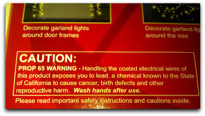 pvc christmas light frames what s with the warning label about lead on christmas lights