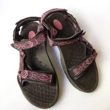 teva brown pink water sandals women u0027s size 8 river shoes hurricane