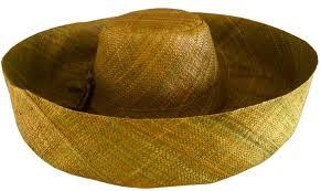olive color madagascar hat hidden pocket hat