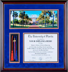 tassel frame ufdf021 deluxe diploma frame with tassel honors cords and a