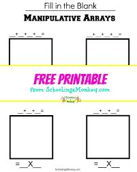 manipulative multiplication arrays worksheet