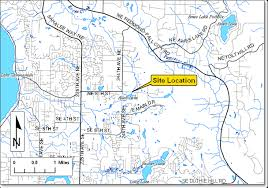 map of allen lake allen outlet project king county